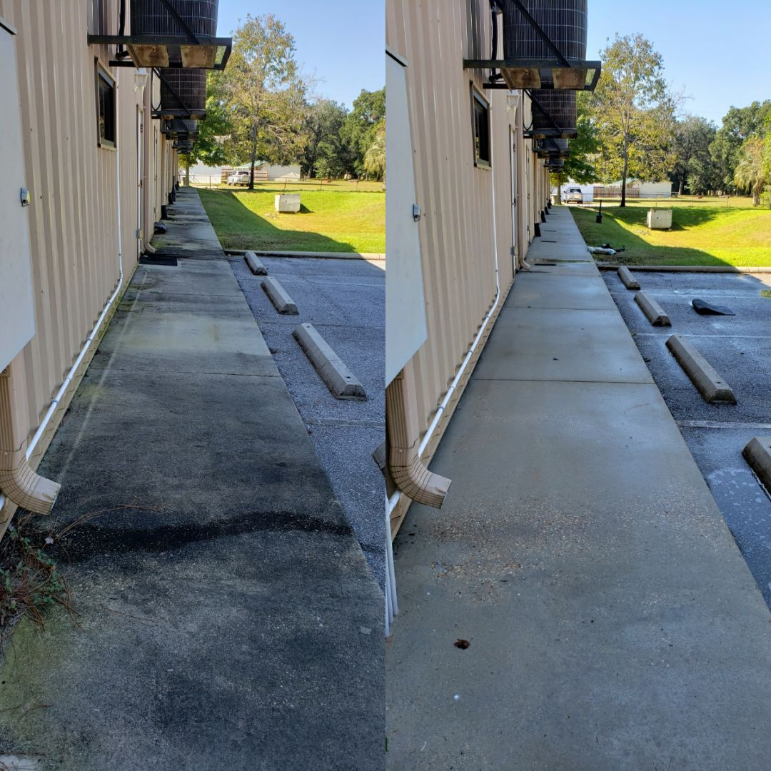 Concrete cleaning in Pensacola.