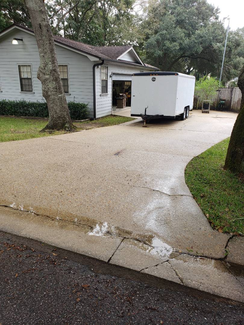 Pensacola, FL - Concrete cleaning in Pensacola.