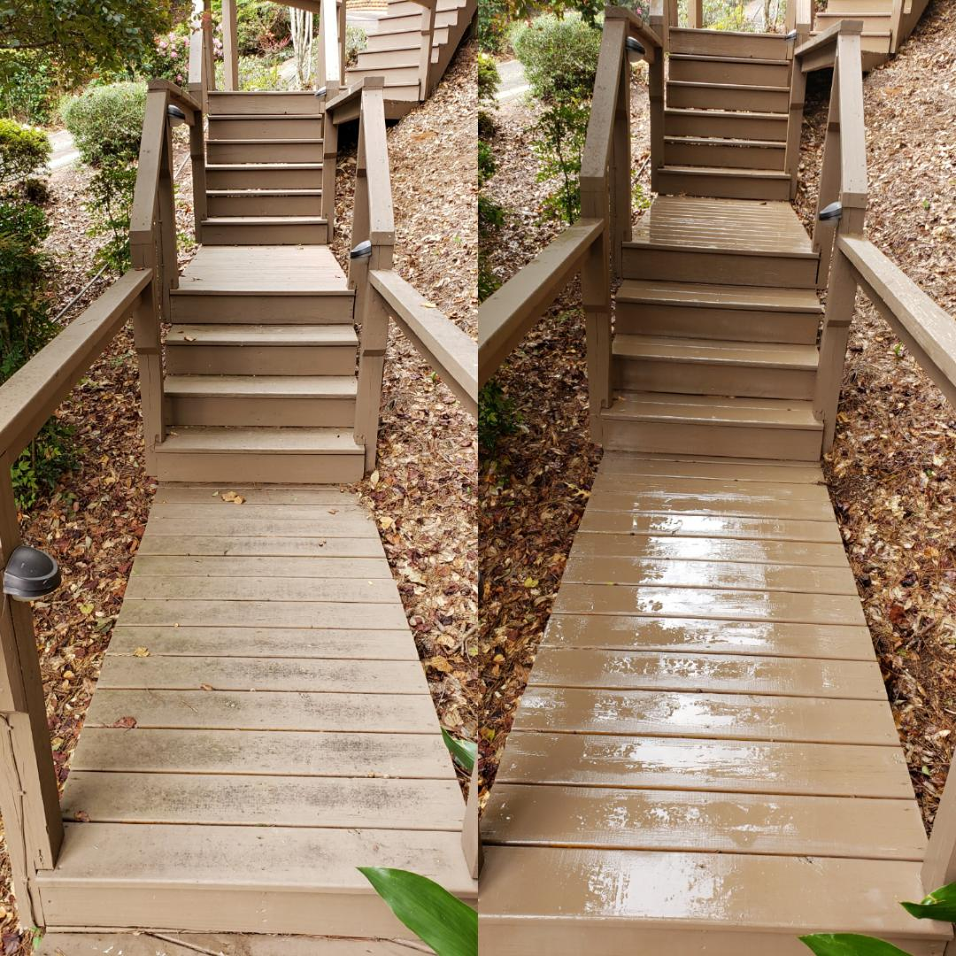 Cleaning staircases in Pensacola.