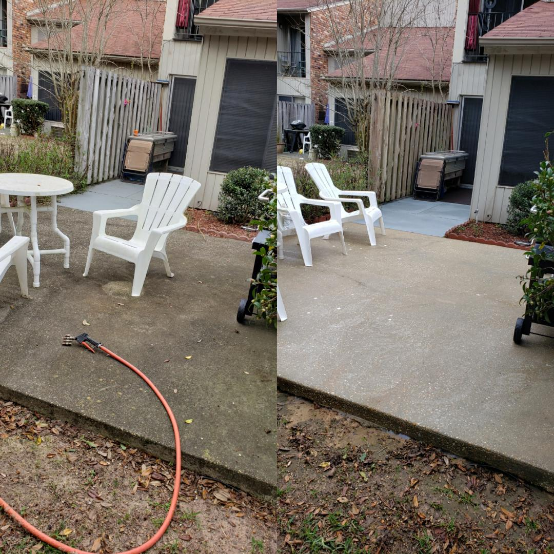 Pensacola, FL - Concrete cleaning in Pensacola