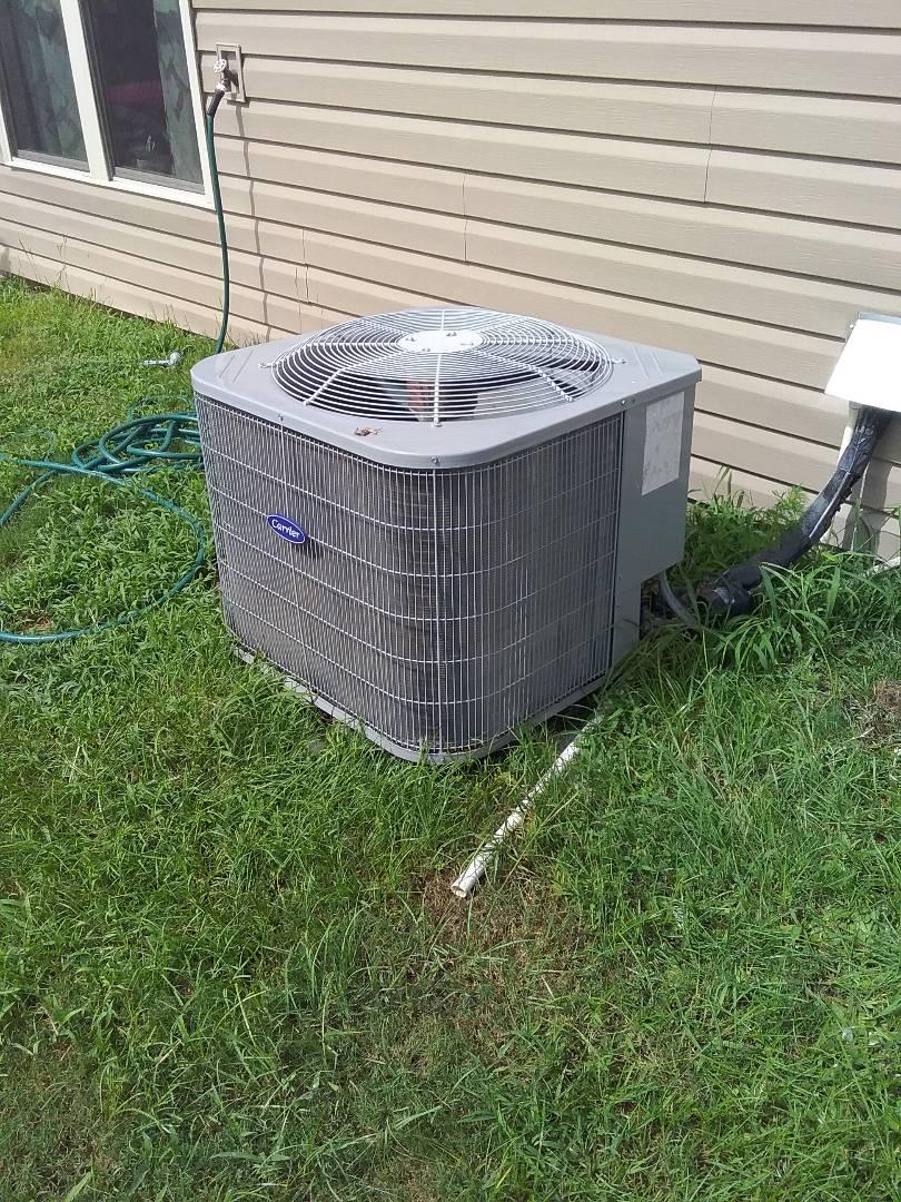 Performed repair on Carrier heat pump