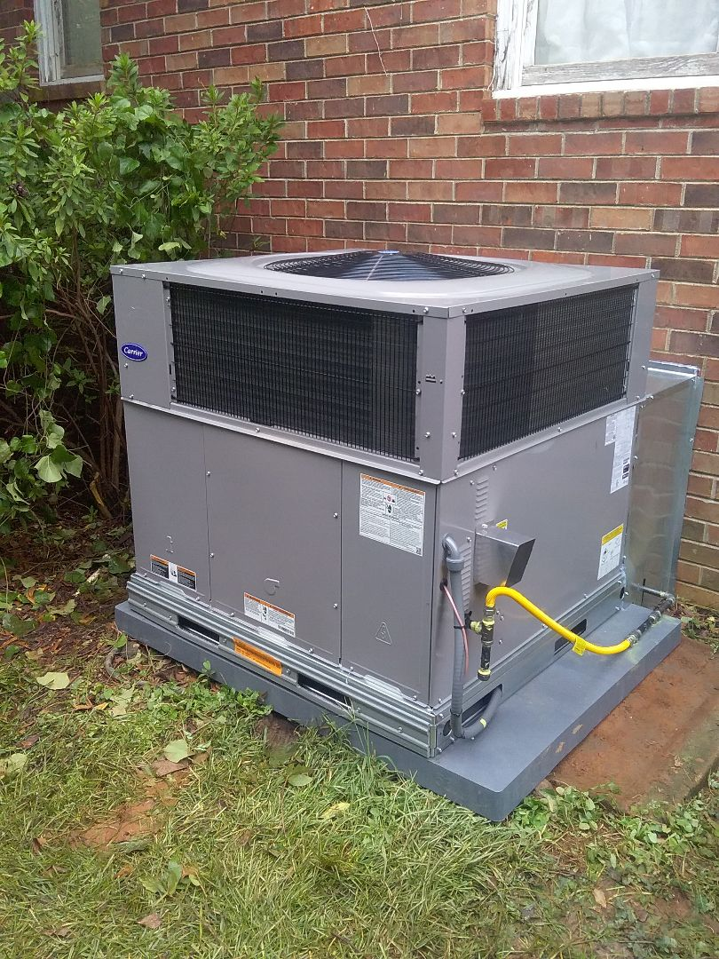 Performed install of new Carrier package unit
