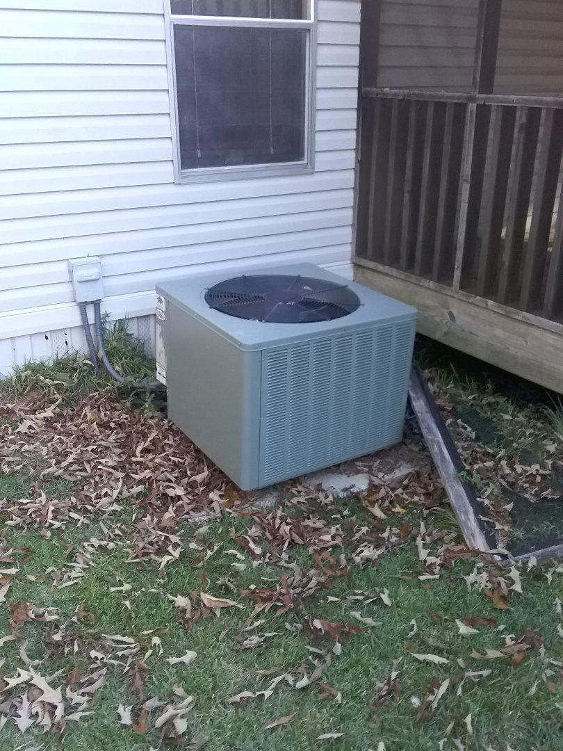 Performed repair/maintenance on Rheem air conditioner