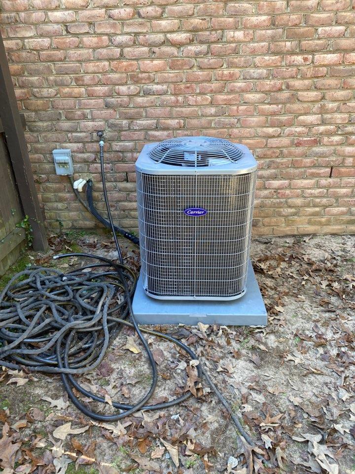 New carrier split heatpump/ ac unit install