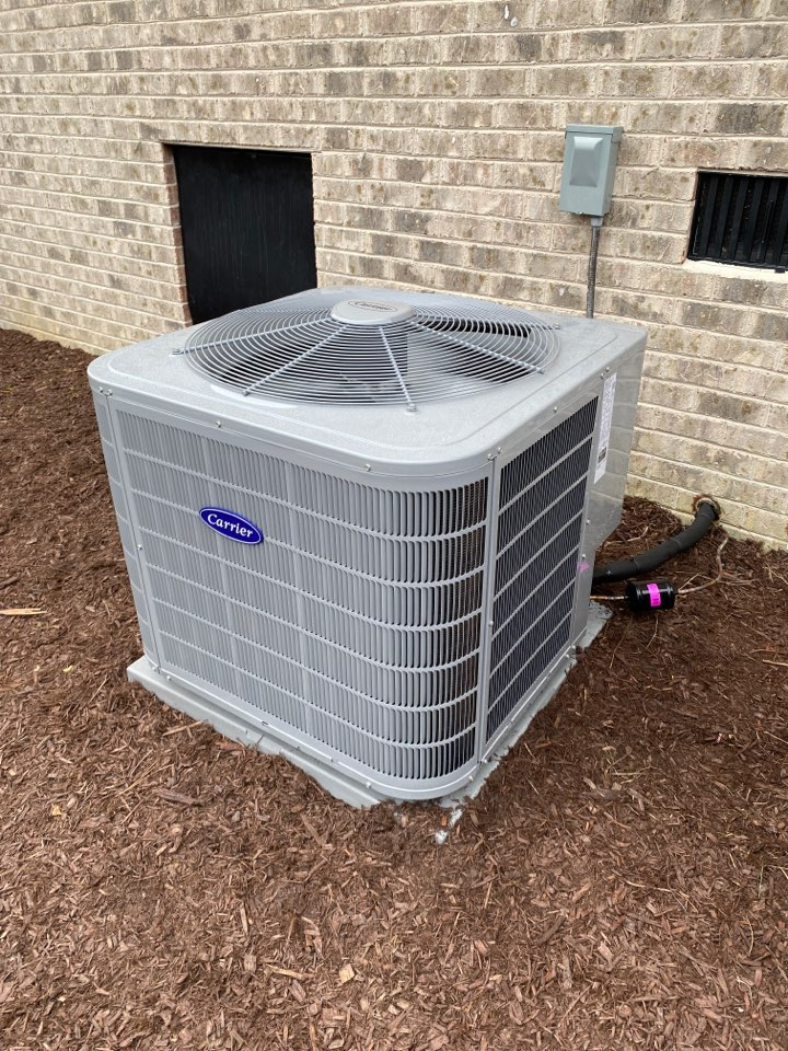 New carrier split heat pump installed