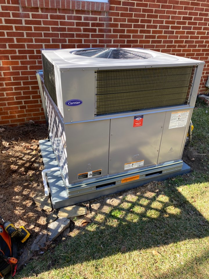 New carrier gas package unit installed