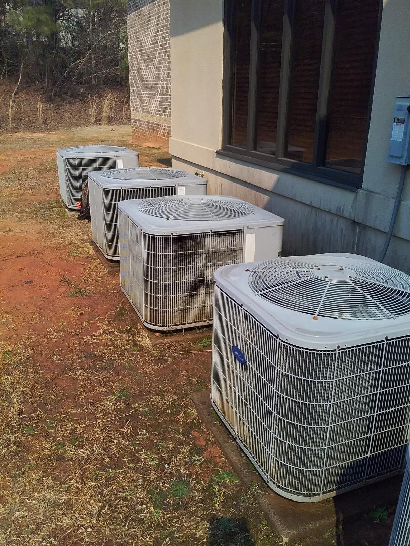 Performed repair/maintenance on Carrier heat pumps