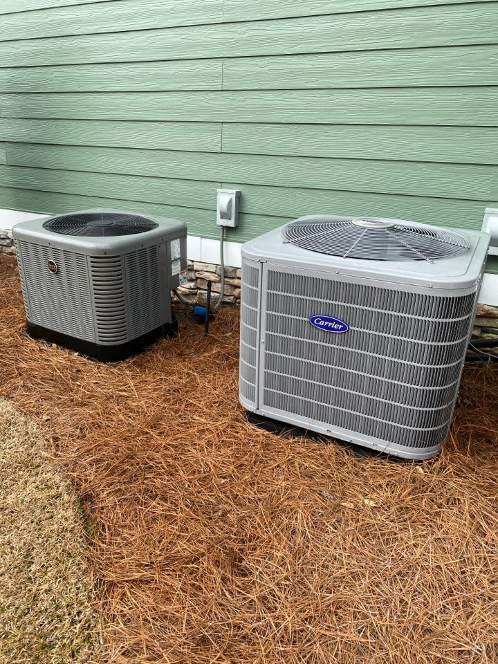 Heat maintenace on carrier and rheem heatpumps