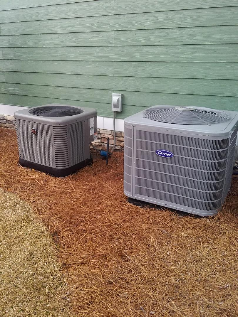 Performed maintenance/repair on Carrier heat pump