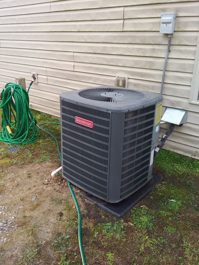 Performed repair on Goodman heat pump