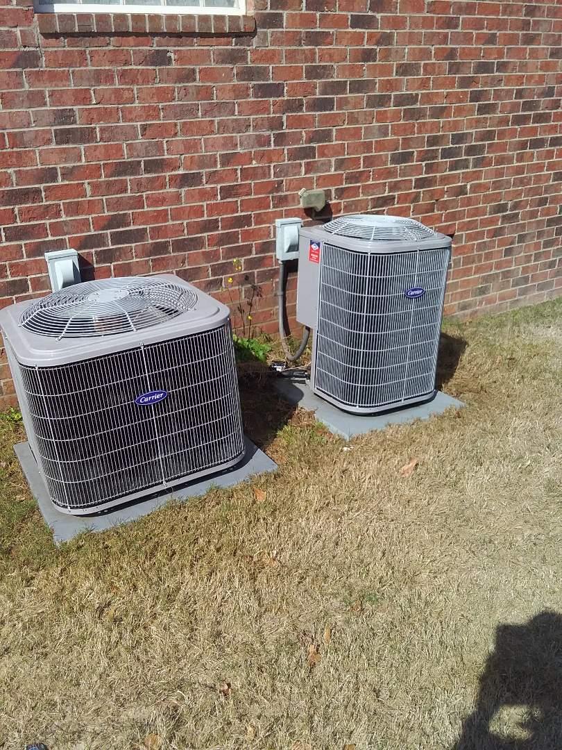 Performed repair/maintenance on Carrier heat pump