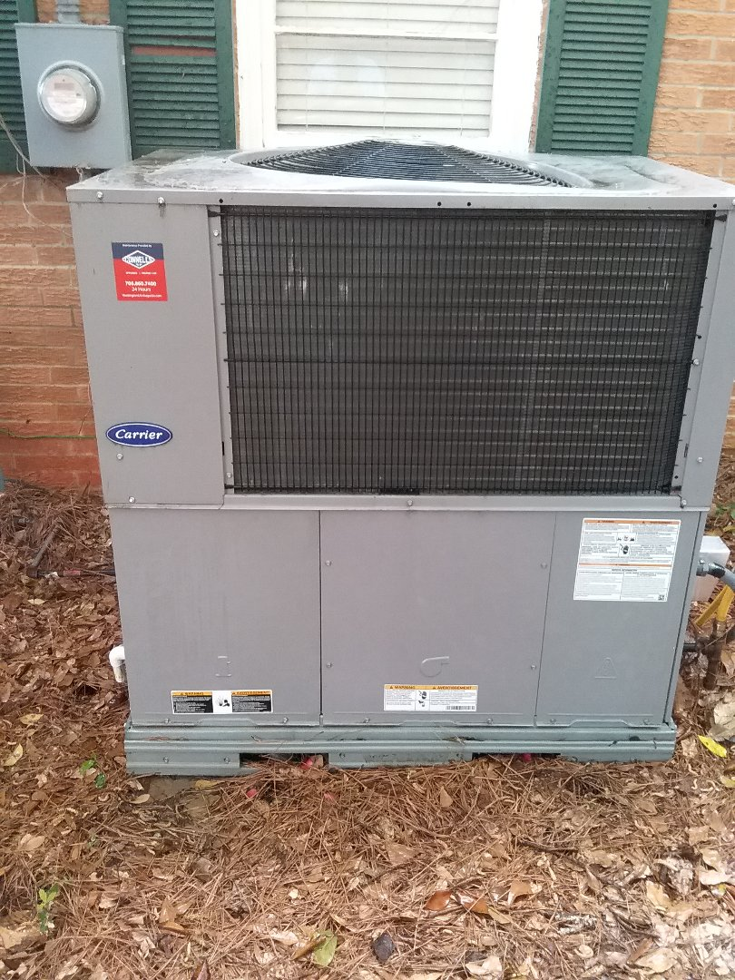 Performed maintenance on Carrier package unit