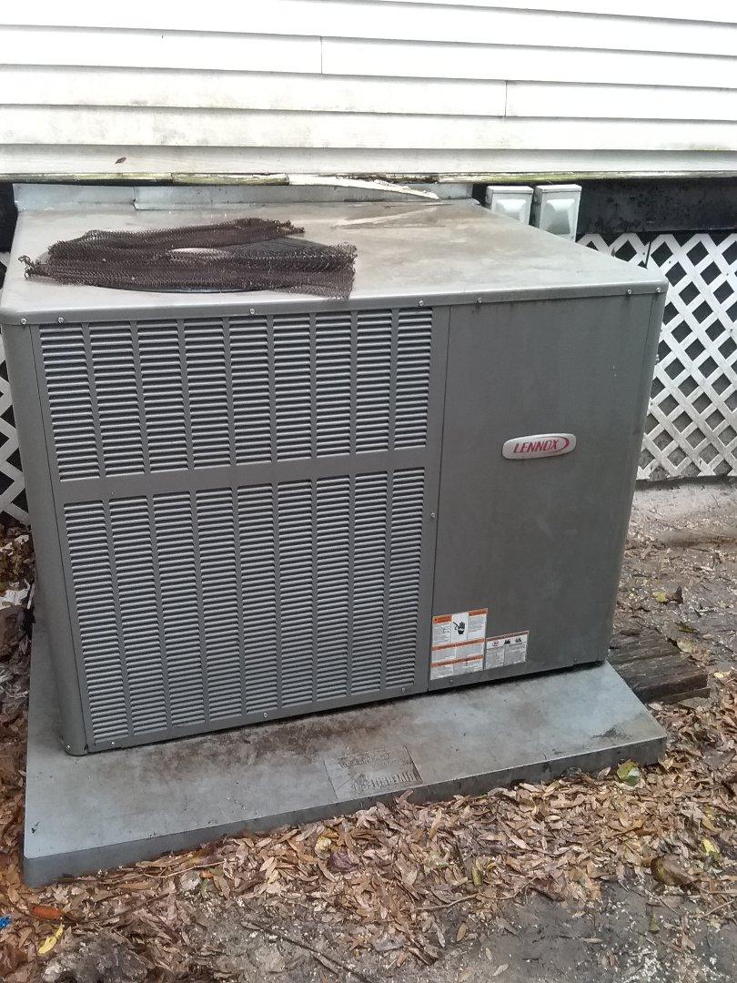Performed maintenance on Lennox heat pump