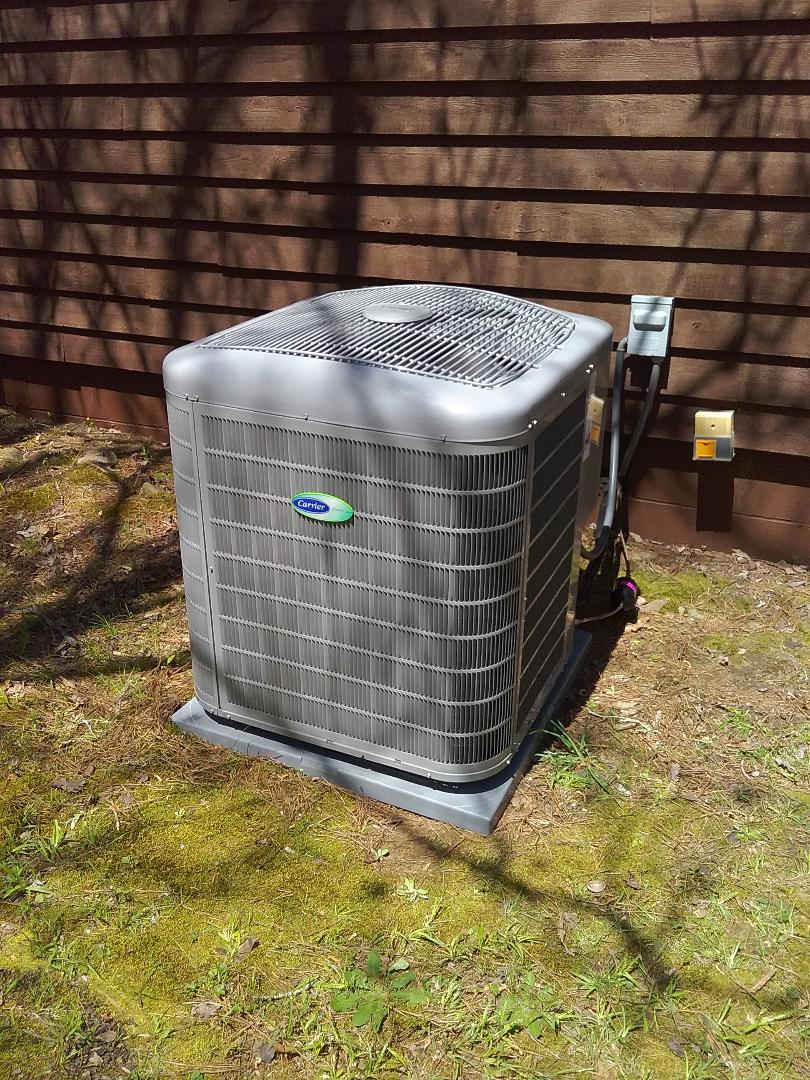 Performed install of new Carrier Infinity heat pump