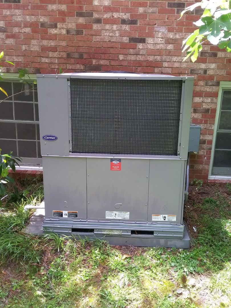 Performed maintenance on Carrier heat pump