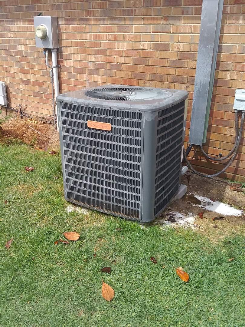 Performed repair on a Goodman heat pump
