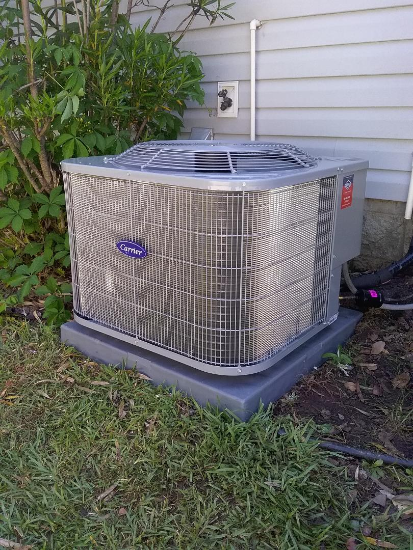 Performed install of new Carrier air conditioner