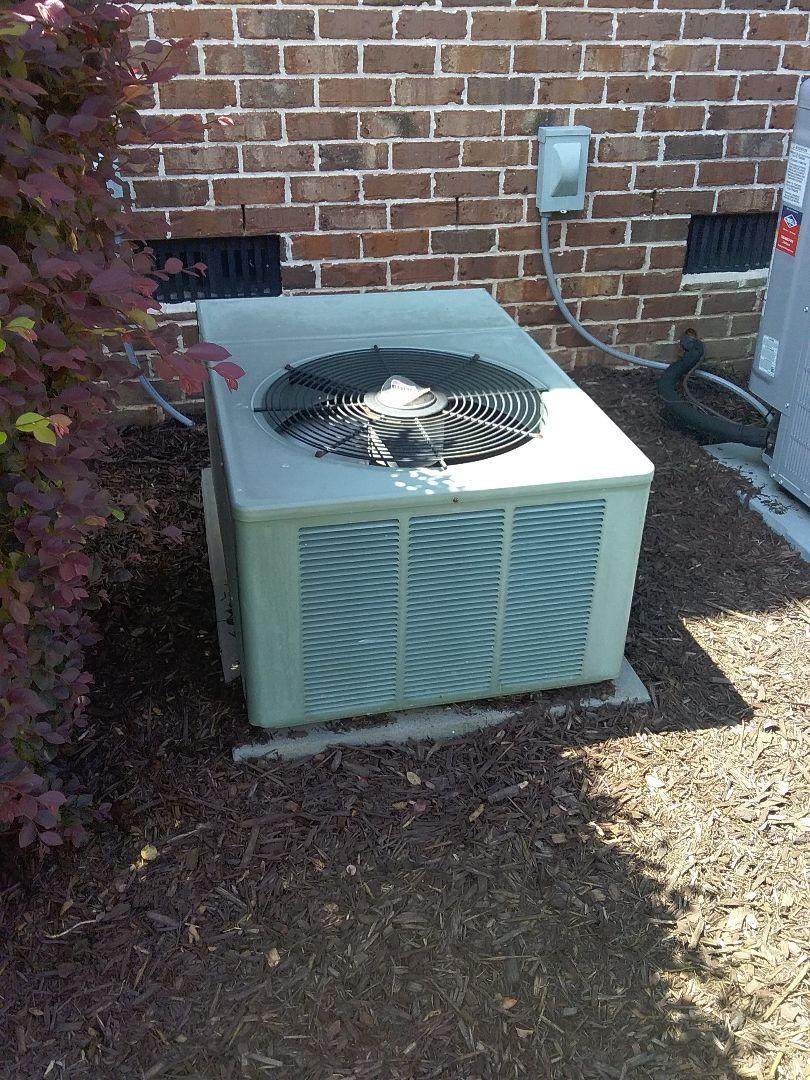 Performed repair on Ruud heat pump