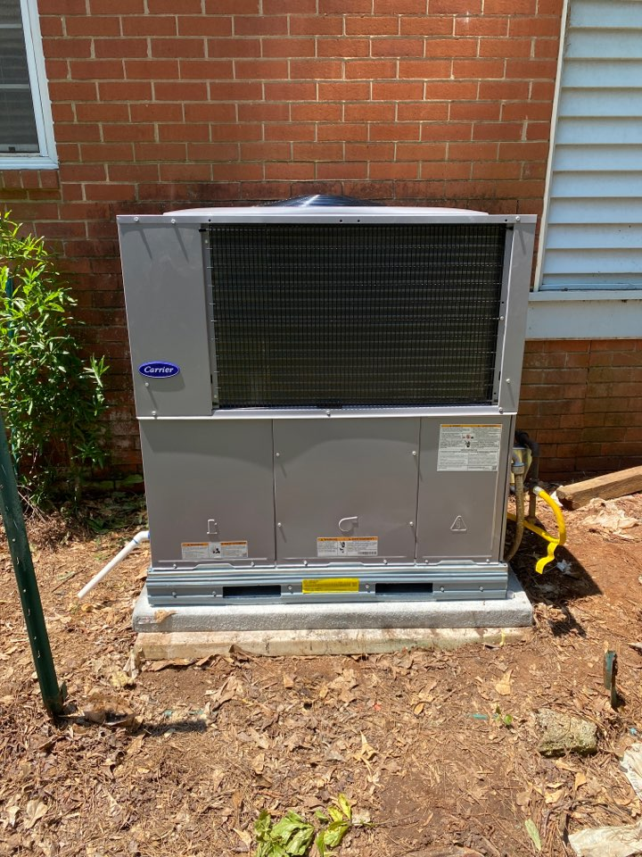 Installed new Carrier gas package unit