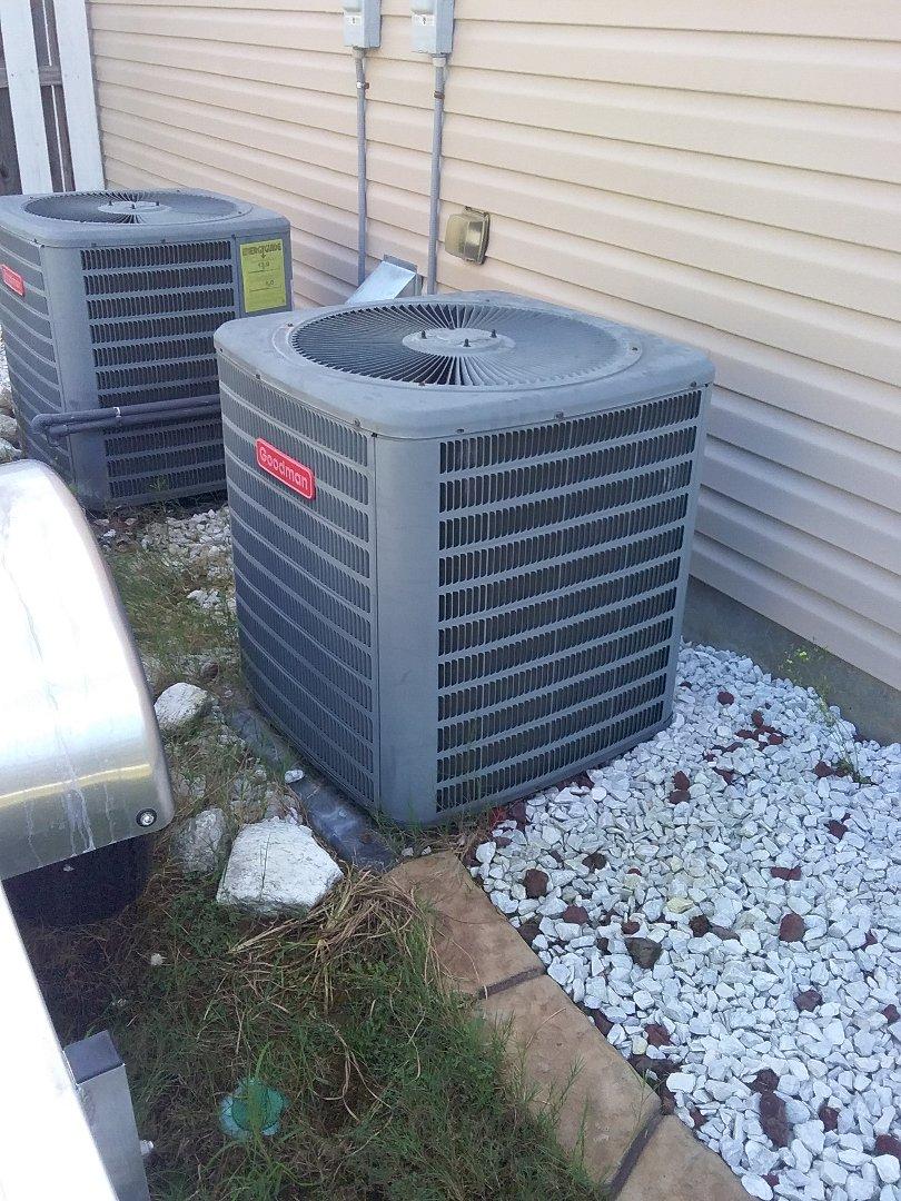 Performed repair on Goodman heat pump