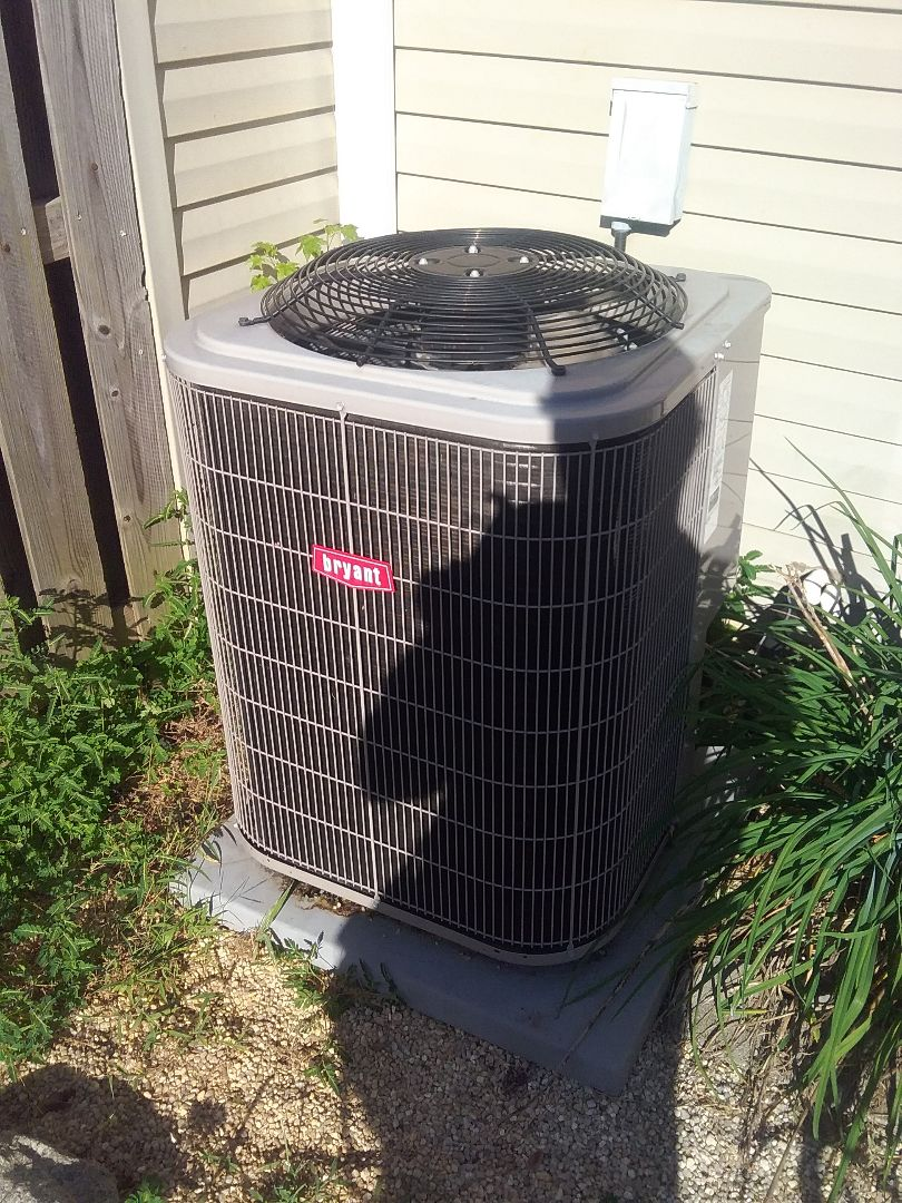 Performed repair on Bryant heat pump