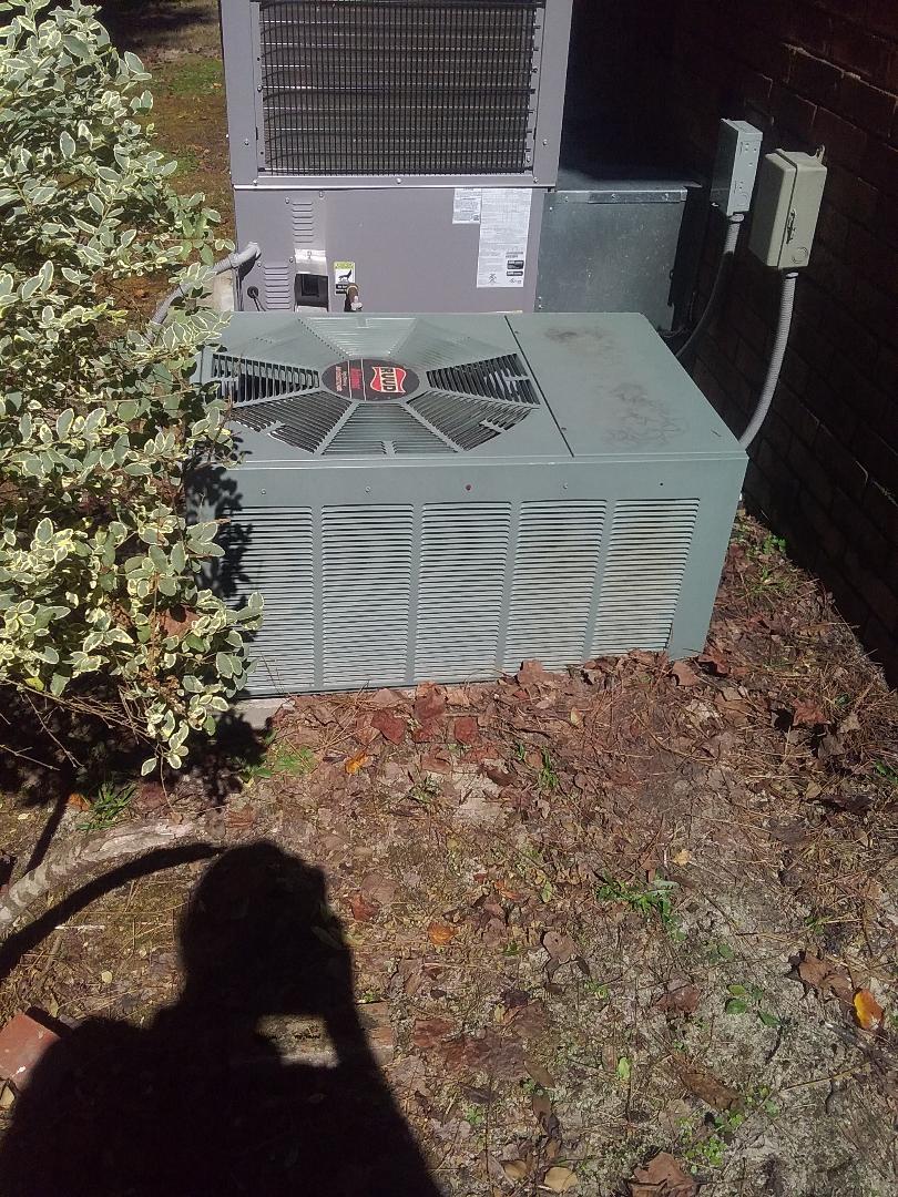 Performed repair on Ruud air conditioner