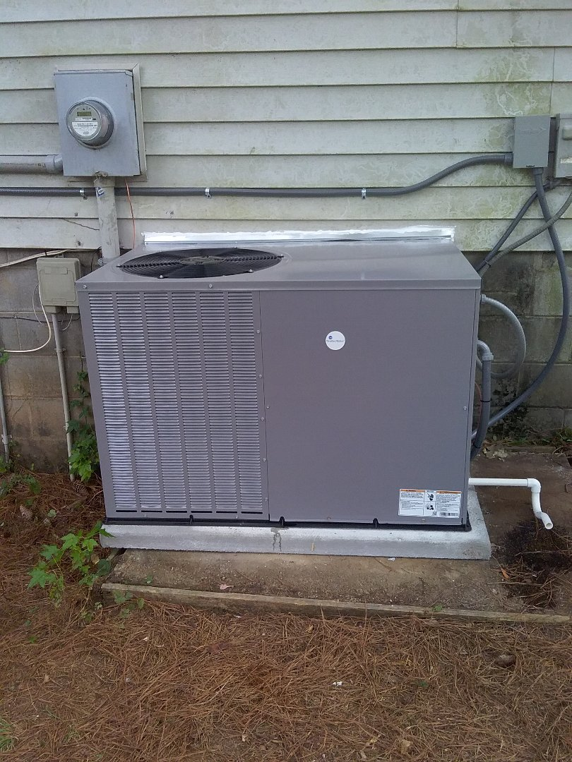 Performed install of new WeatherMaker heat pump