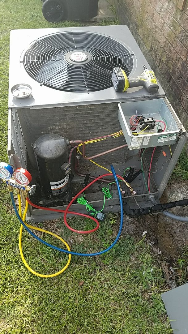 Augusta, GA - Performing a service and cleaning of a Rheem split system furnace