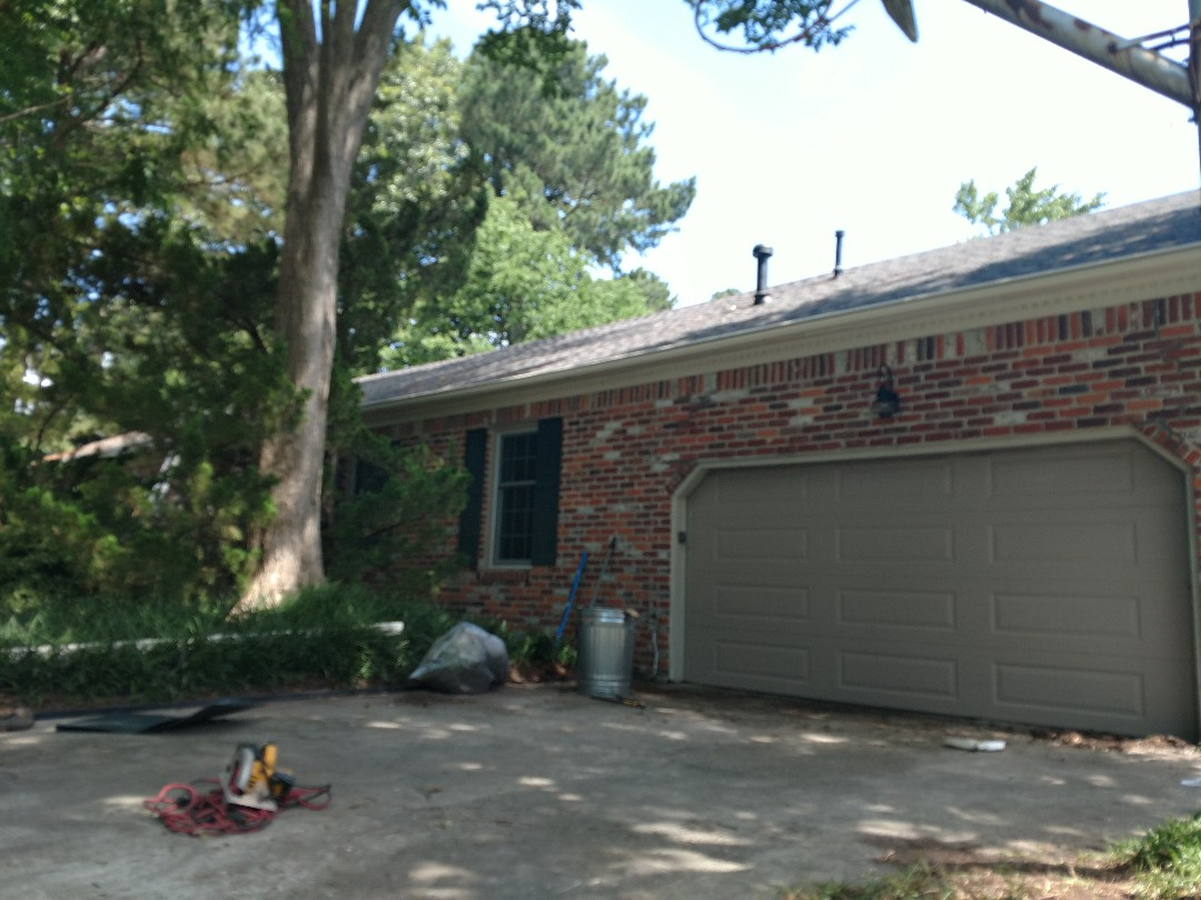 Virginia Beach, VA - Had to replace 1x8 fascia board and then install new LeafGuard gutters.