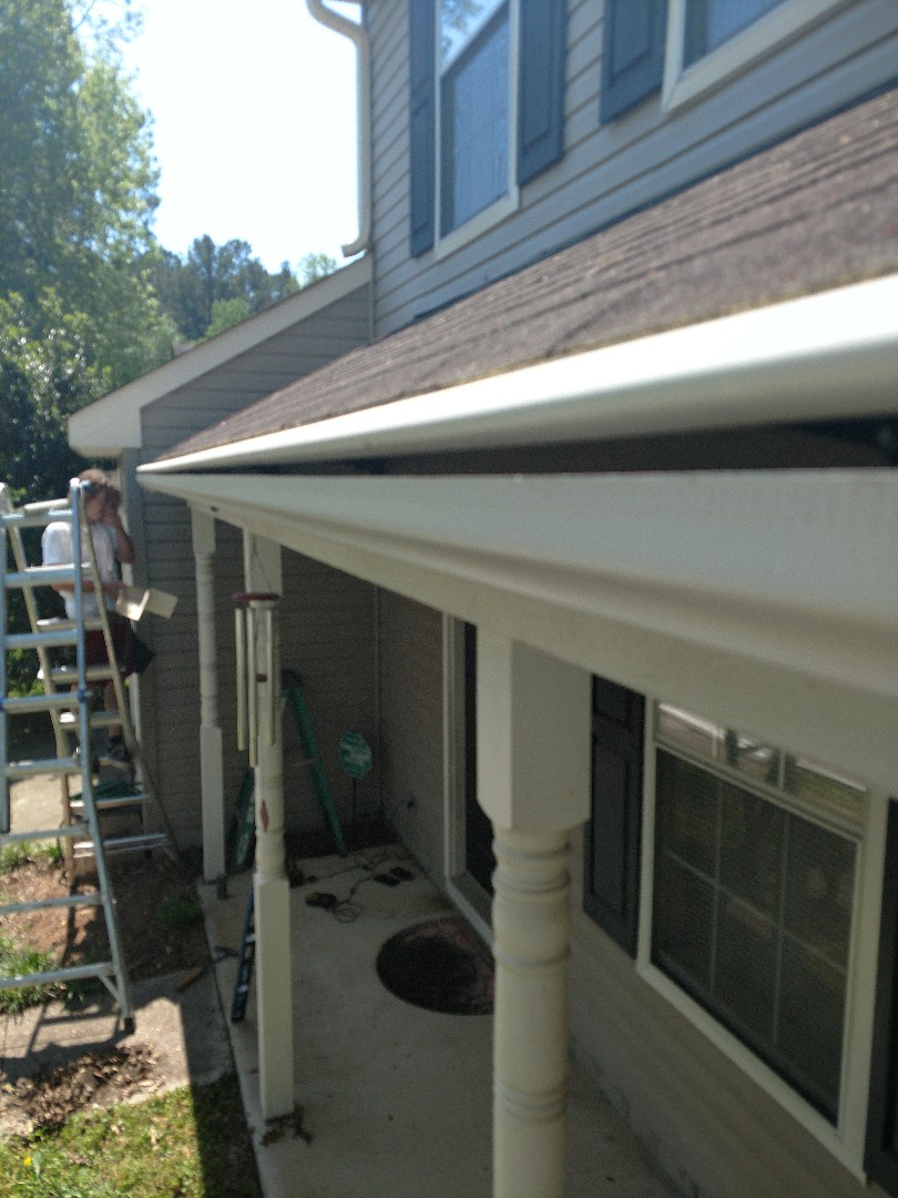 Suffolk, VA -  LeafGuard installed means no more rotten wood & no more clogged gutters = Happy Homeowner!