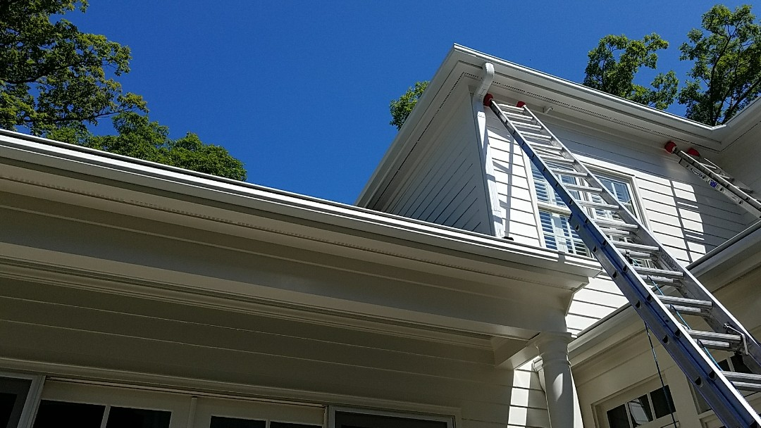 Richmond, VA - Installing new Leafguard gutter system on Monument Ave today