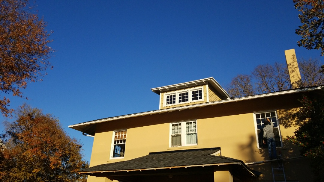 Richmond, VA - New roof , siding and Leafguard gutter in downtown richmond
