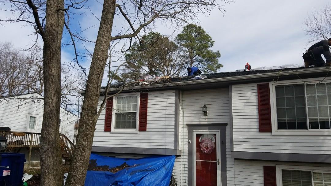 Glen Allen, VA - New GAF roofing system in Glen Allen