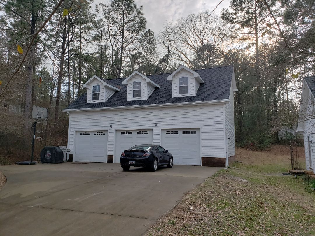 Lexington, SC - Garage gutter and protection