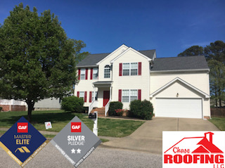 Yorktown, VA - Chase Roofing LLC completed a roof replacement with a GAF Silver Pledge Warranty. Chase Roofing used GAF DECK ARMOR Moisture Control Roof Deck Protection over roof deck, we also used GAF SEAL-A-RIDGE Protective Ridge Cap Shingles on all ridges, and GAF TIMBERLINE LIFETIME HIGH DEFINITION in the color Pewter Gray.