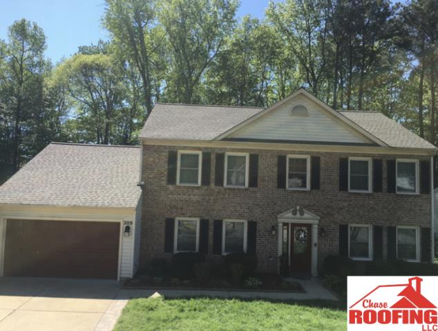 Yorktown, VA - Chase Roofing LLC Completed a roof replacement was a basic warranty with a 5 year workmanship warranty.