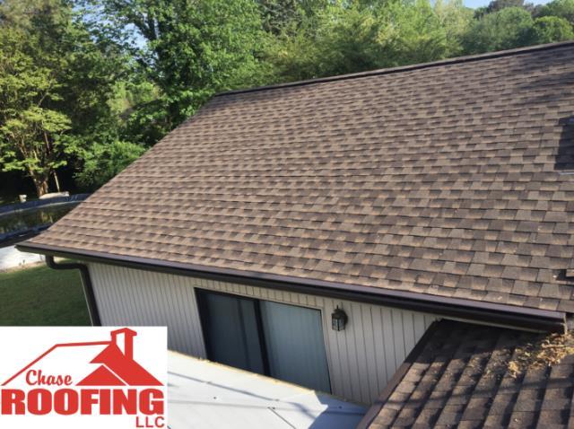 Yorktown, VA - Chase Roofing LLC installed new leaf sentry gutters.