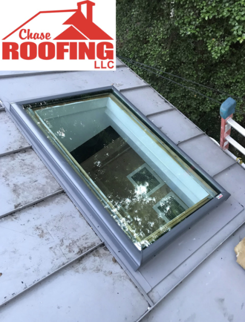Williamsburg, VA - Chase Roofing LLC replaced a skylight with a GAF Velux skylight. Chase Roofing provided a 5-year workmanship warranty.