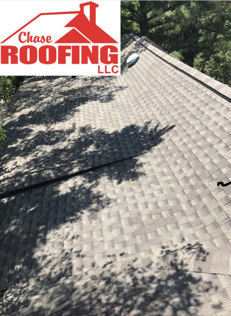 Poquoson, VA - Chase Roofing LLC completed a partial roof replacement in the color Weathered Wood. This roof replacement was done with a GAF Systems Plus warranty.