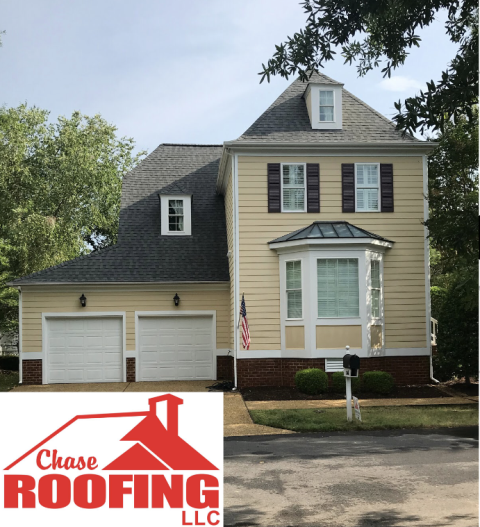 Williamsburg, VA - Chase Roofing LLC completed a full roof replacement with a GAF Systems Plus warranty.