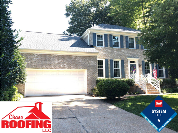 Yorktown, VA - Chase Roofing LLC completed a roof replacement using a GAF System Plus warranty. Under the GAF System Plus warranty, Chase Roofing LLC provided a 10-year Workmanship Warranty. GAF provided a 50 year non-prorated warranty on materials.