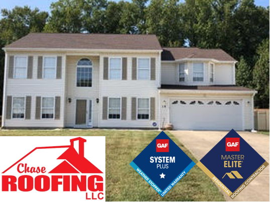 Hampton, VA - Chase Roofing LLC completed a  GAF Systems Plus roof replacement.