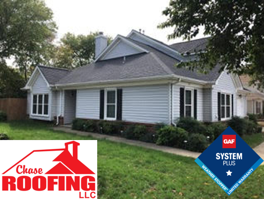 Yorktown, VA - Chase Roofing LLC completed a full roof replacement under a GAF Systems Plus Warranty.