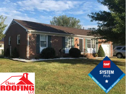 Newport News, VA - Chase Roofing LLC completed a full roof replacement using a GAF System Plus Warranty.
