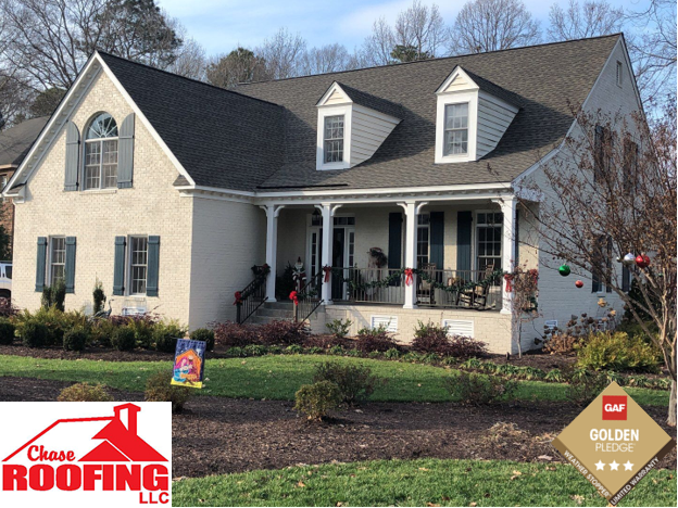 Yorktown, VA - Chase Roofing LLC completed a full roof replacement with a GAF Golden Pledge Warranty.
