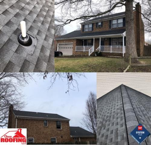 Hampton, VA - Chase Roofing LLC just completed this beautiful, full roof replacement. The GAF Systems Plus warranty includes a 50-year non-prorated warranty on materials.
