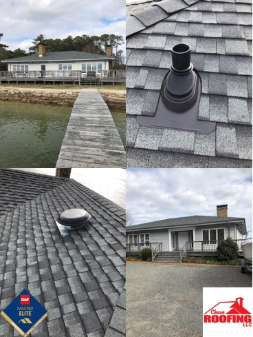 York, VA - Chase Roofing LLC completed this beautiful full roof replacement. This roof is protected under the best warranty GAF has to offer, the Golden Pledge Warranty.