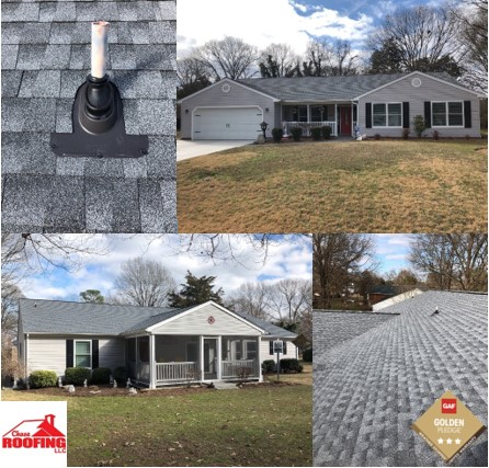 Gloucester Point, VA - Another successful and beautifully completed roof replacement finished my Chase Roofing LLC. The Golden Pledge Warranty offers 25-year workmanship protection.