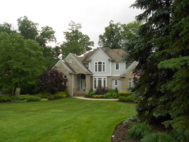 Chagrin Falls, OH - Installing GAF Camelot II Antique Slate shingles, 6' of ice guard, and replacing (3) skylights. Also connecting all gutters to lower gutters and adding gutter guard and downspouts