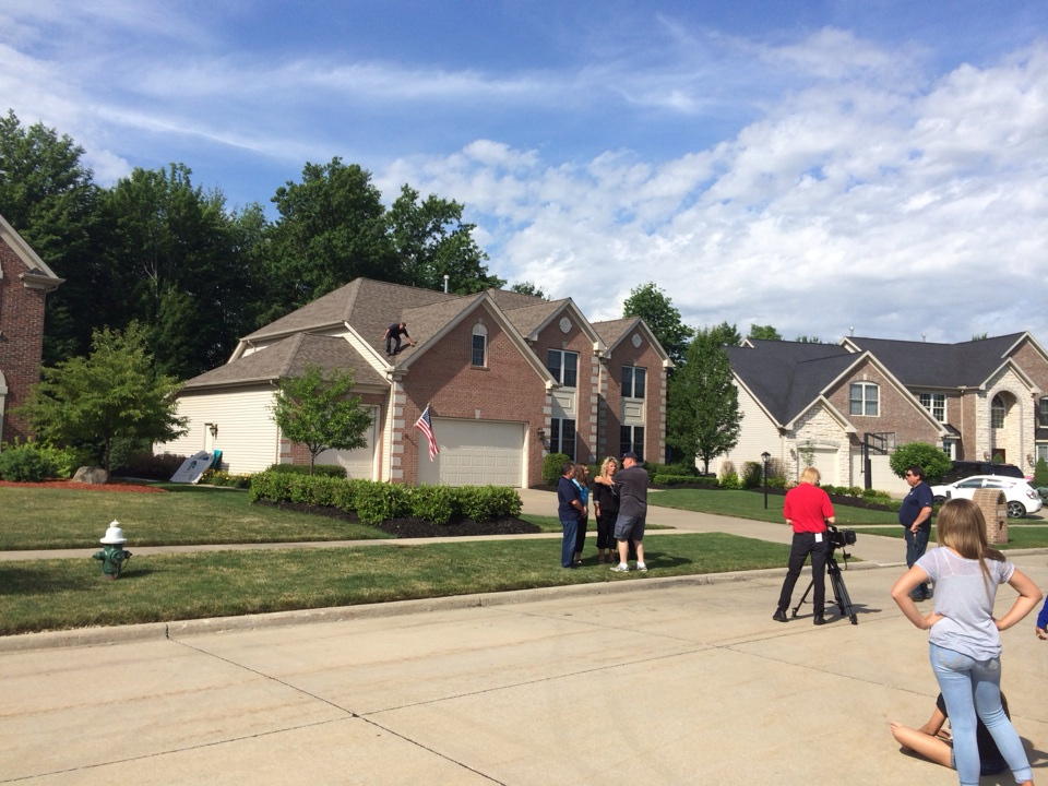 Strongsville, OH - Shooting our newest commercial at an existing clients house in strongsville!